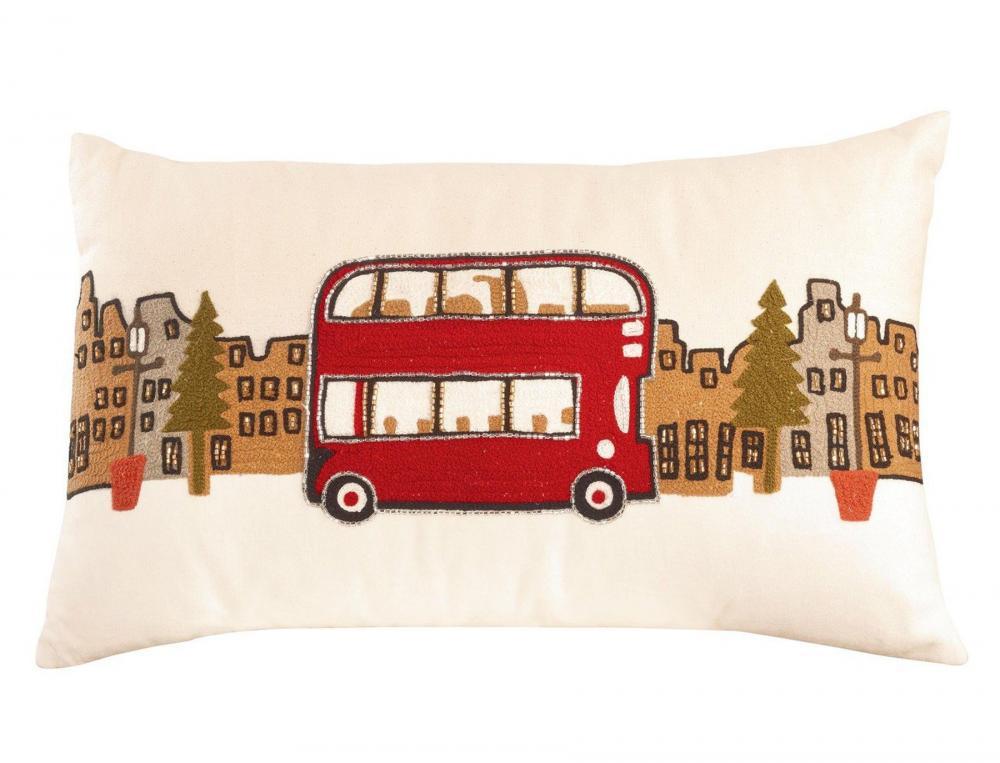 coussin mod le bus anglais no l londres linvosges. Black Bedroom Furniture Sets. Home Design Ideas