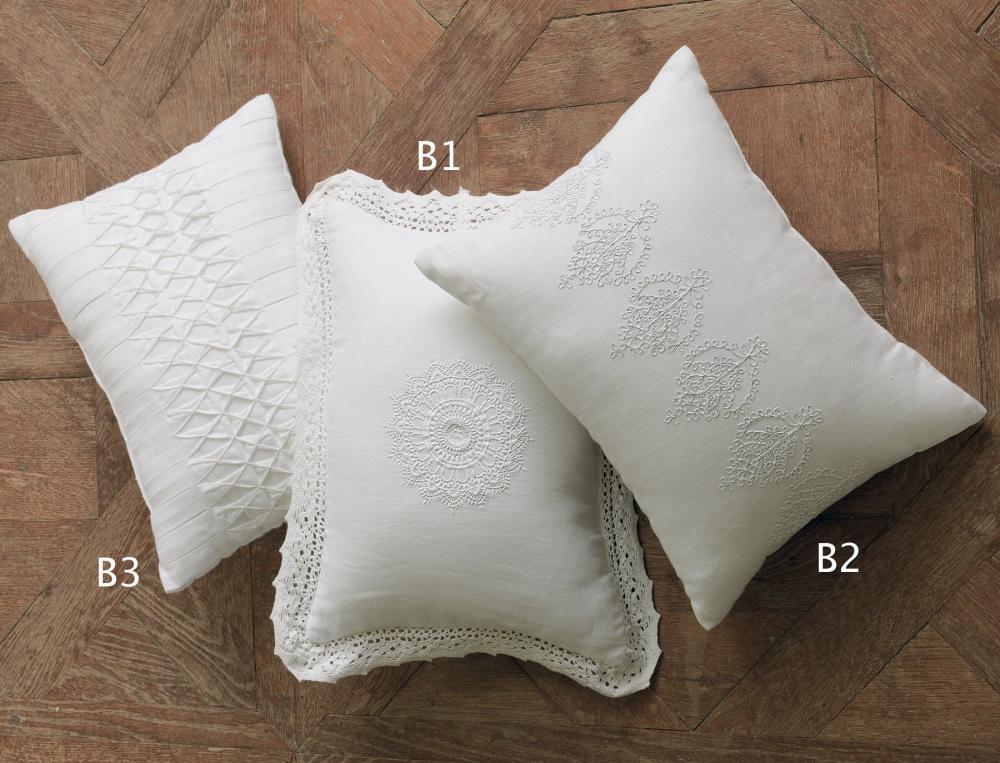coussin uni blanc l 39 amour du beau linge linvosges. Black Bedroom Furniture Sets. Home Design Ideas