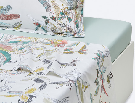 Drap percale imprimé Bouquet d\'émotions