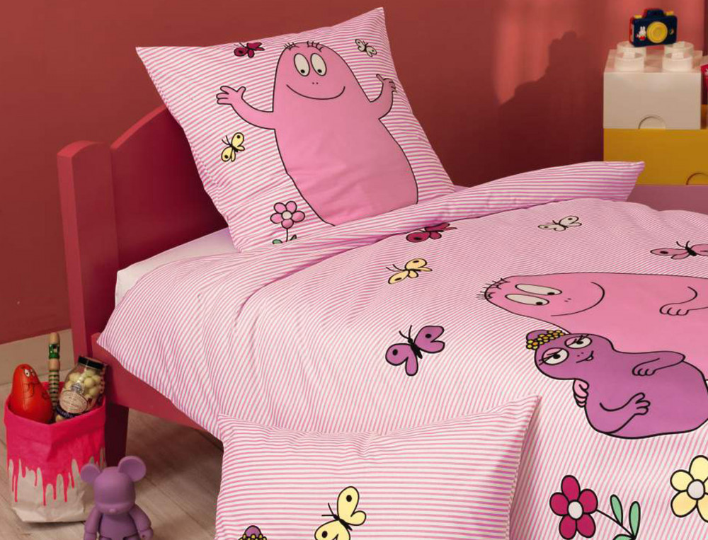 drap housse enfant ray barbapapa bonnet 30 cm linvosges. Black Bedroom Furniture Sets. Home Design Ideas