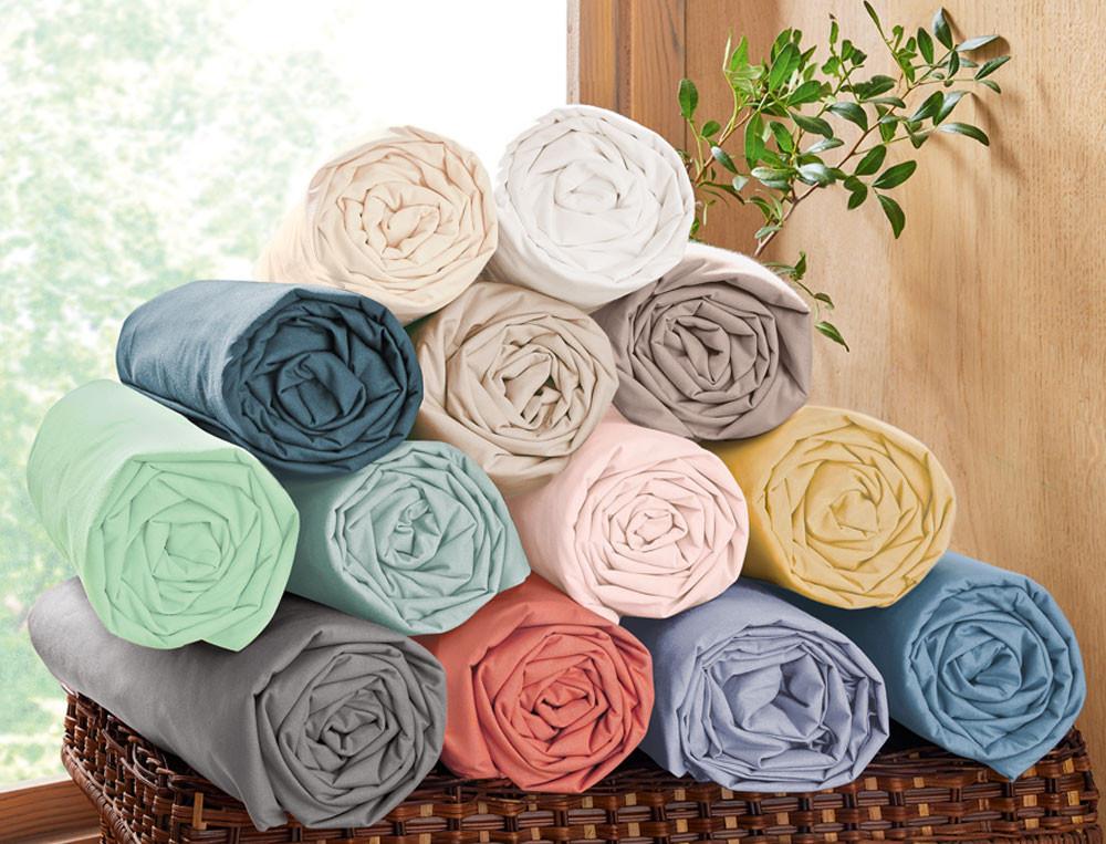 Drap-housse Jersey extensible couleur - Linvosges