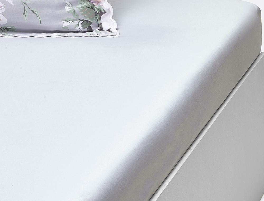 drap housse uni les magnolias bonnet 30 cm linvosges. Black Bedroom Furniture Sets. Home Design Ideas