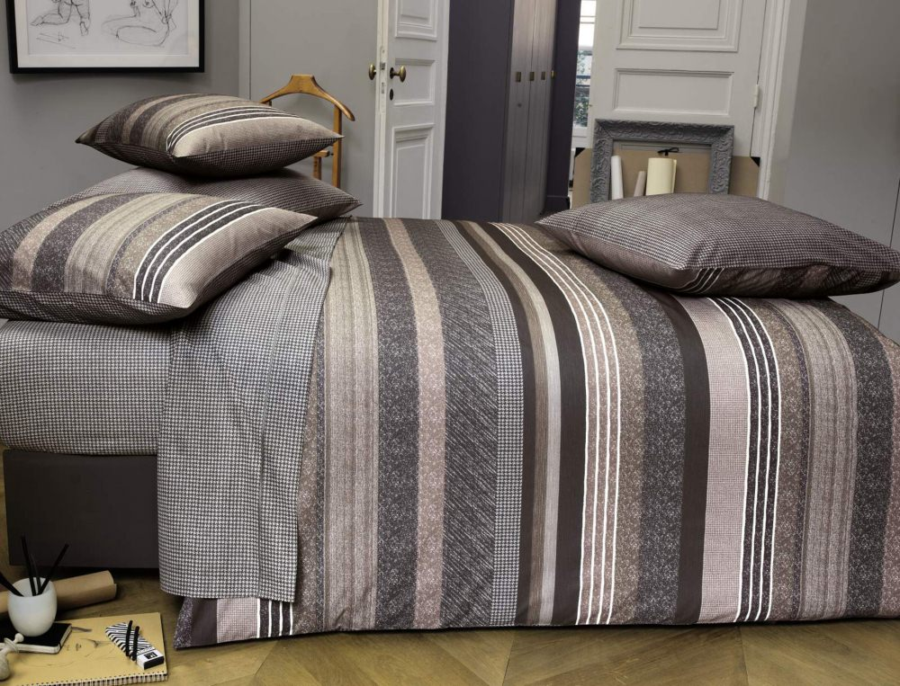linge de lit fusain linvosges. Black Bedroom Furniture Sets. Home Design Ideas
