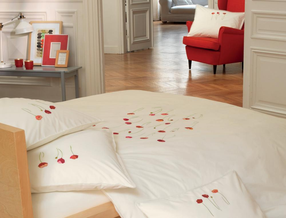 Linge de lit gentil coquelicot linvosges for Linge de chambre