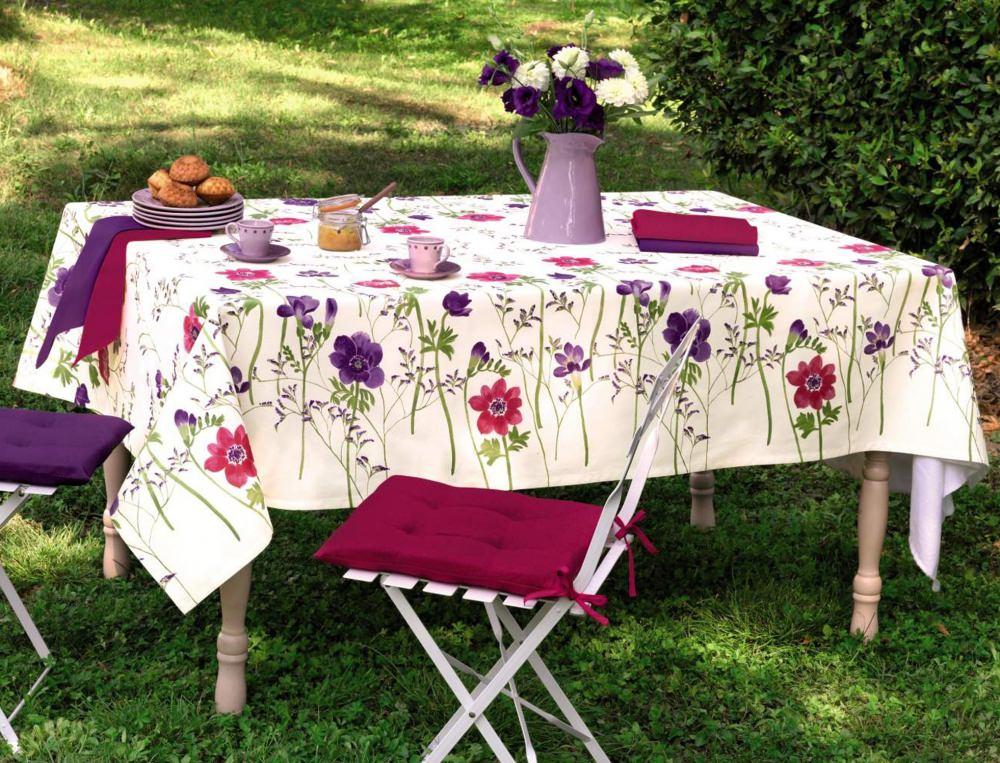 Herbe En fleurs - 2 serviettes de table