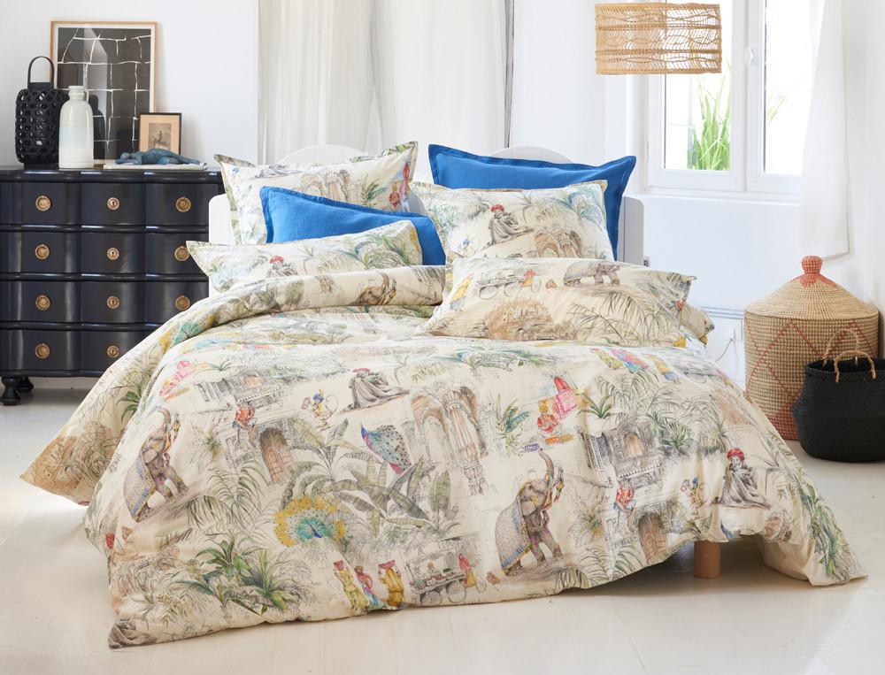 housse de couette pondich ry linvosges. Black Bedroom Furniture Sets. Home Design Ideas