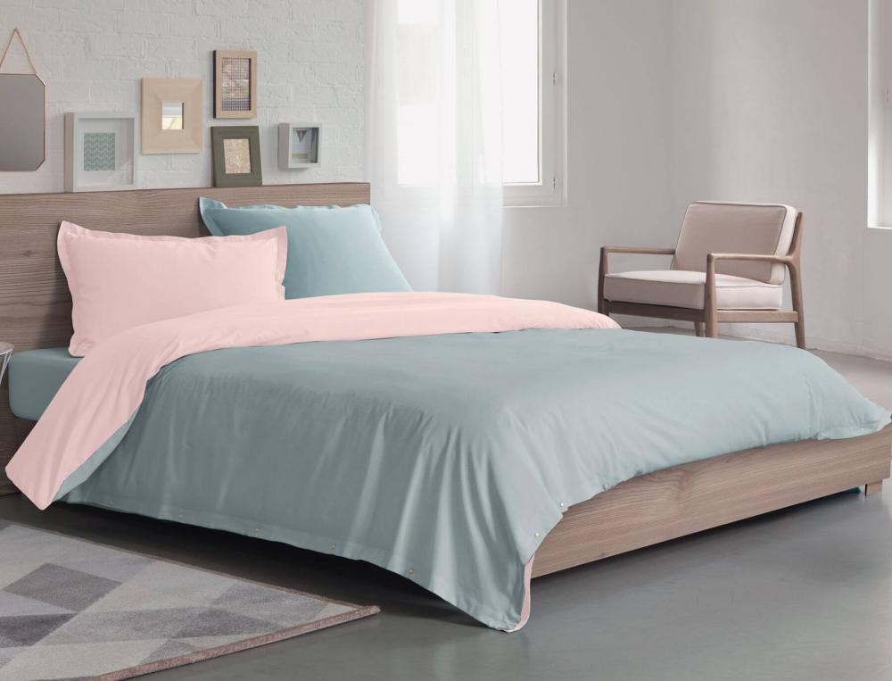 housse de couette bicolore pressionnata linvosges. Black Bedroom Furniture Sets. Home Design Ideas