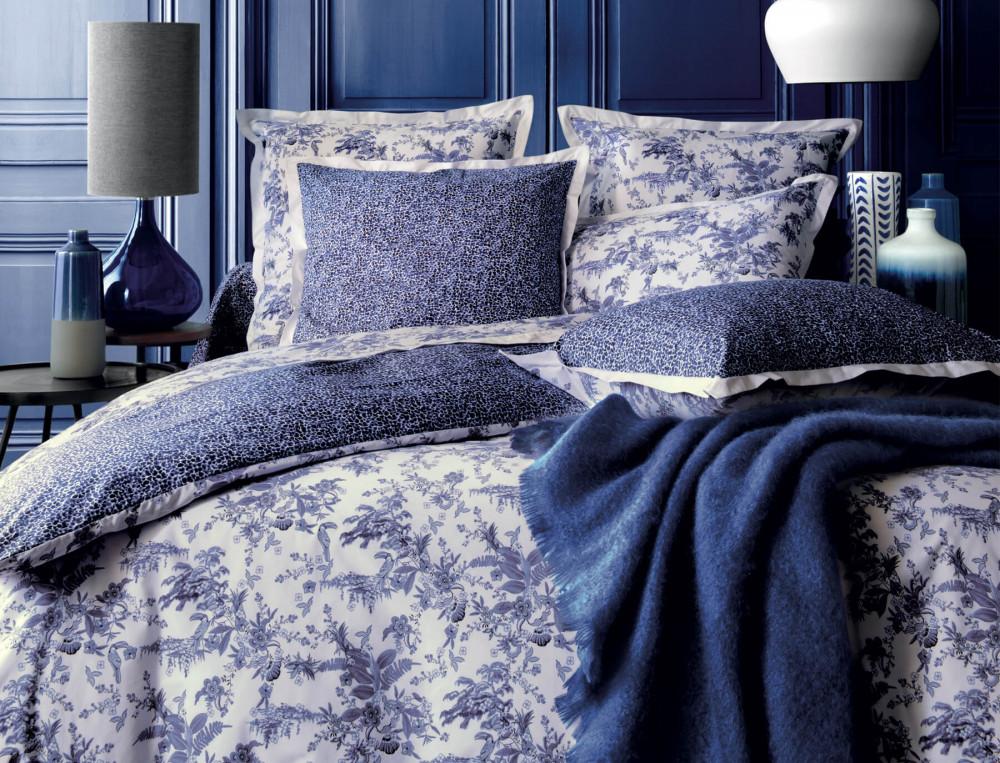housse de couette bleu po sie linvosges. Black Bedroom Furniture Sets. Home Design Ideas