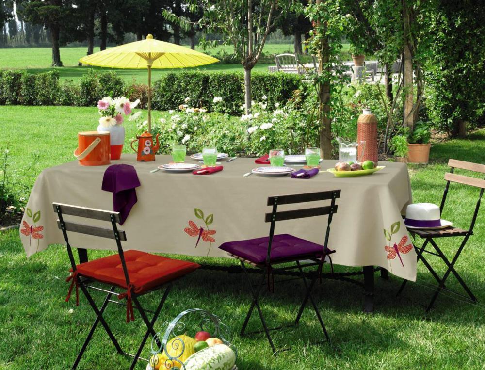 Nappe Table De Jardin Interieur Deco