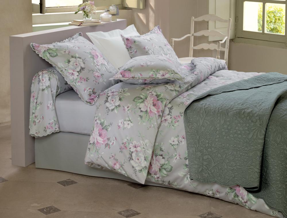 Linge de lit les magnolias linvosges for Housse couette linvosges