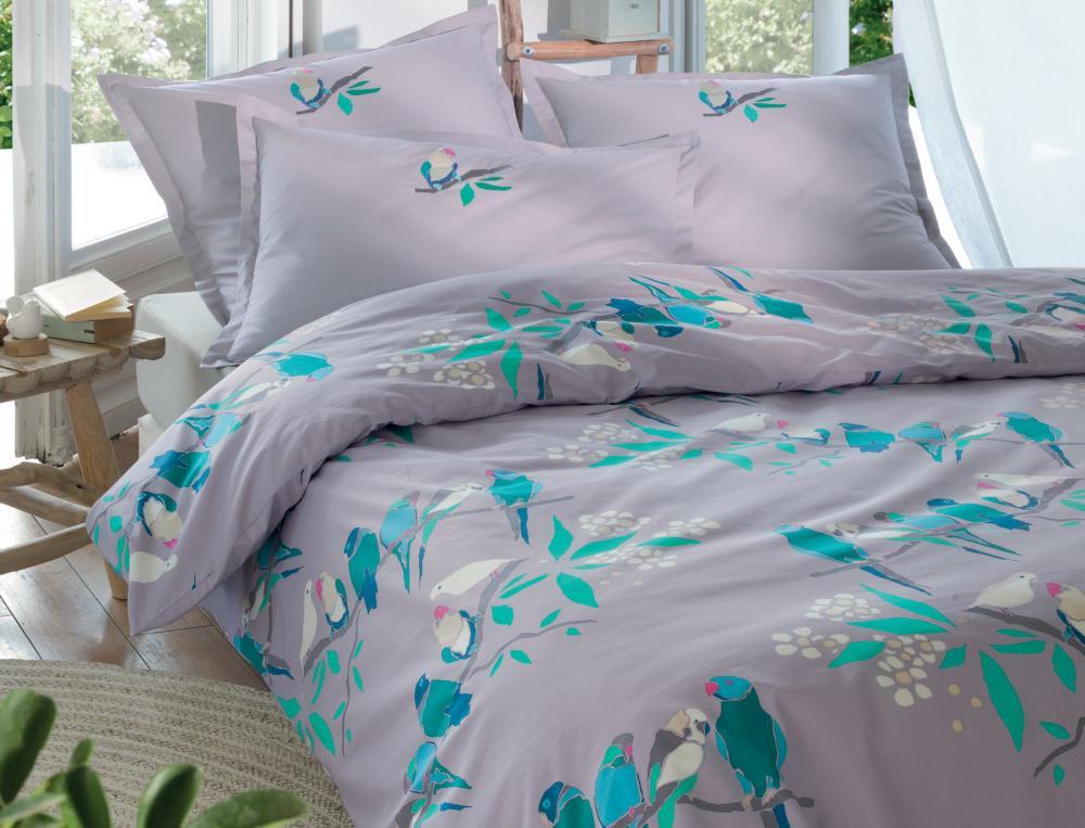 linge de lit brod 100 percale conciliabule linvosges. Black Bedroom Furniture Sets. Home Design Ideas
