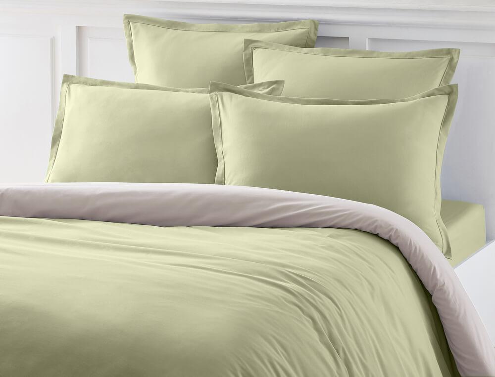 Accueil la chambre linge de lit linge de lit uni coton fin - Linge de maison porthault ...