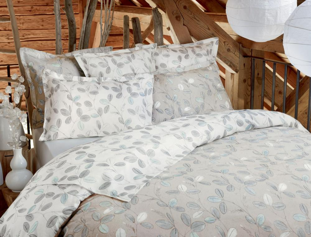 Linge de lit fleur des neiges linvosges - Zodio linge de lit ...