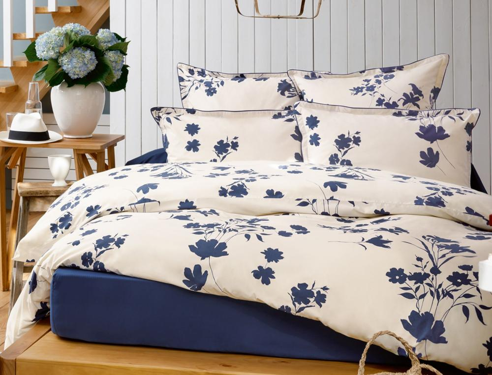 linge de lit fleur indigo linvosges. Black Bedroom Furniture Sets. Home Design Ideas