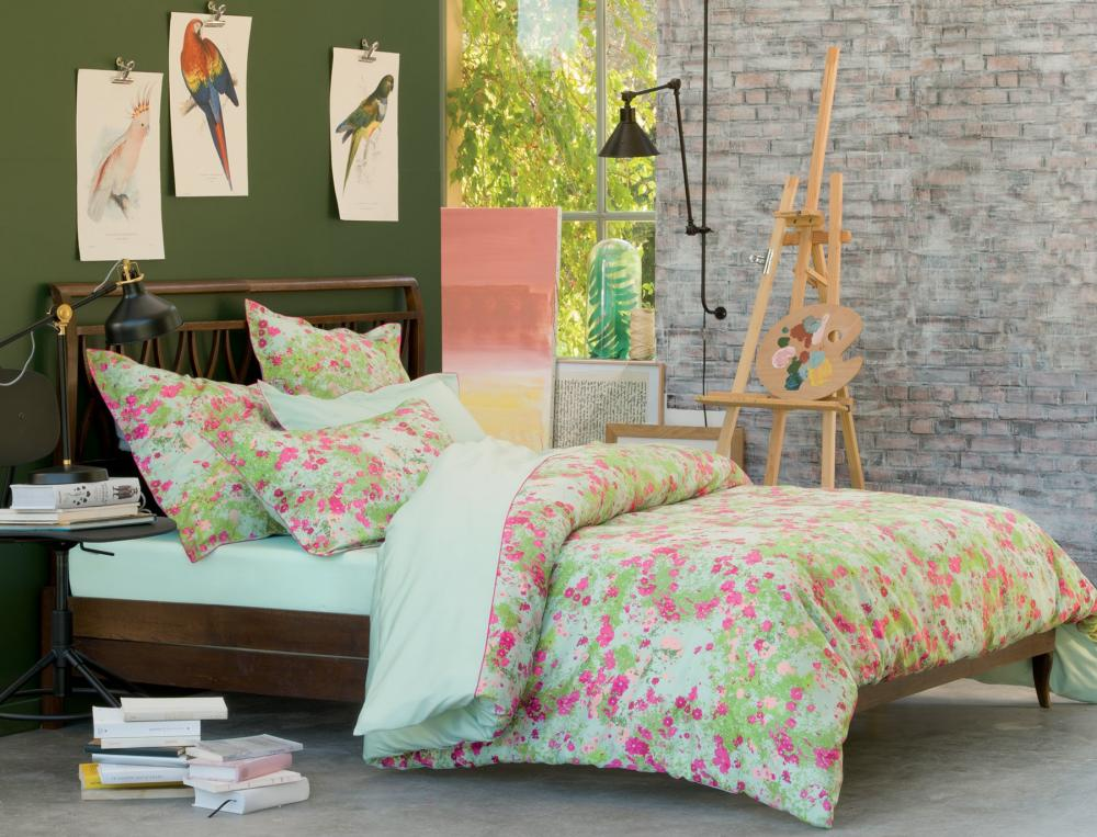 linge de lit fleurs des champs linvosges. Black Bedroom Furniture Sets. Home Design Ideas