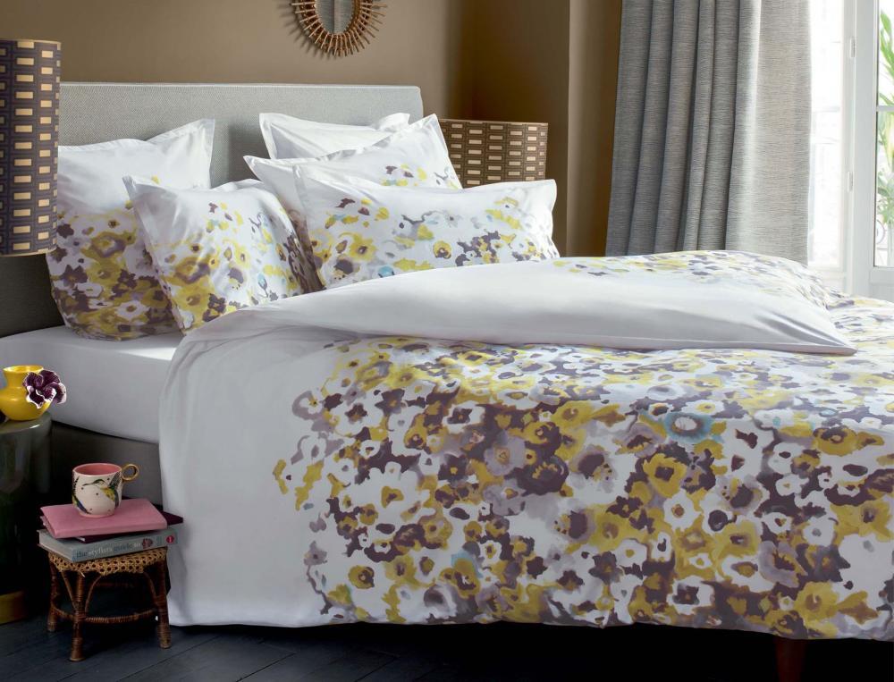 housse de couette 1 ou 2 personnes inspiration aquarelle. Black Bedroom Furniture Sets. Home Design Ideas