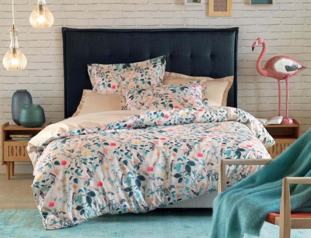 linge de lit l 39 le aux colibris linvosges. Black Bedroom Furniture Sets. Home Design Ideas