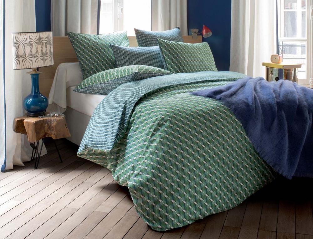 housse de couette 1 ou 2 personnes terre de jade linvosges. Black Bedroom Furniture Sets. Home Design Ideas