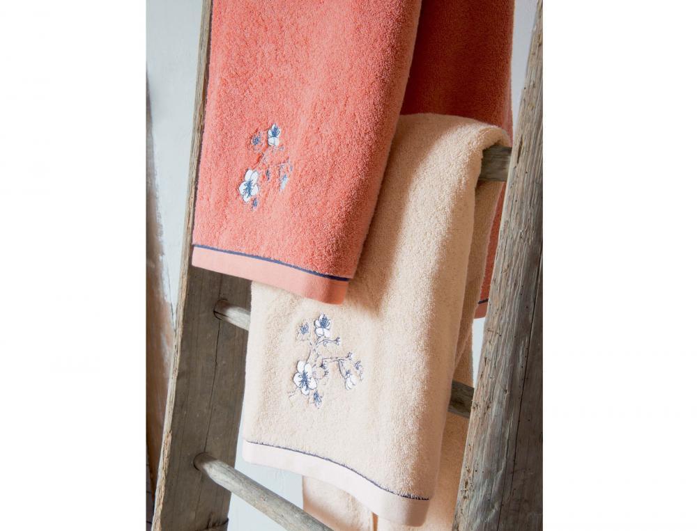 linge de toilette brod pommier du japon linvosges. Black Bedroom Furniture Sets. Home Design Ideas