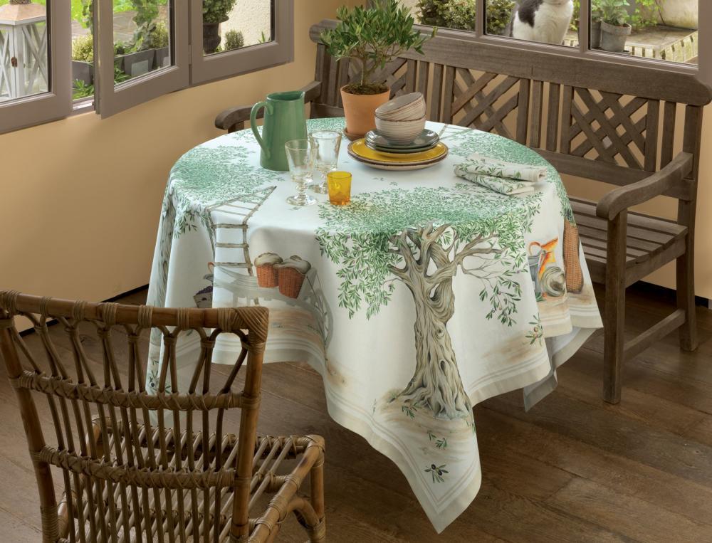 Déjeuner Sous l'olivier - nappe rectangulaire