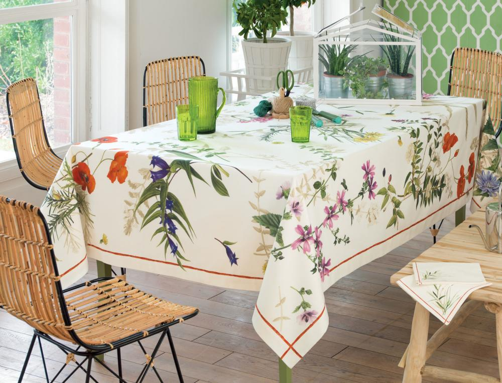 nappe fantaisie fleurs sauvages linvosges. Black Bedroom Furniture Sets. Home Design Ideas