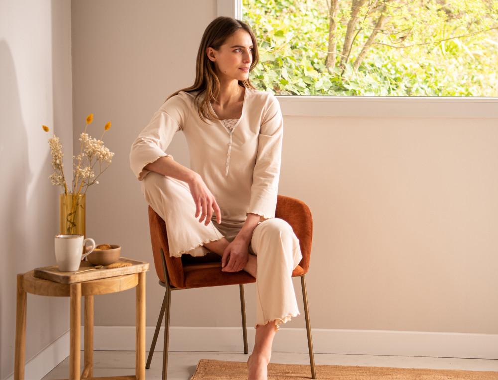 pyjama nuit d ivoire linvosges