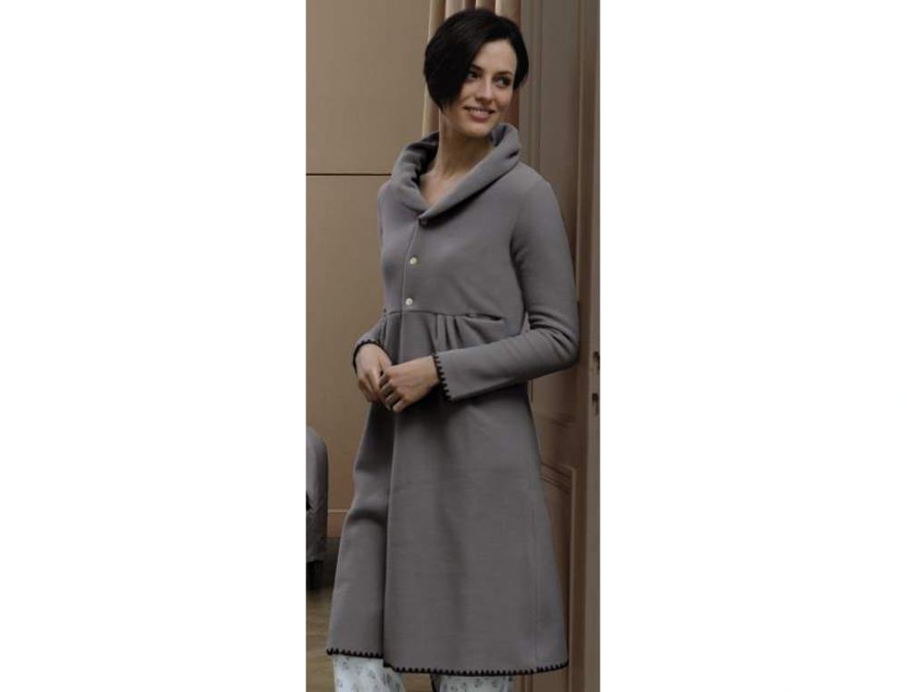 Robe de chambre femme bouton