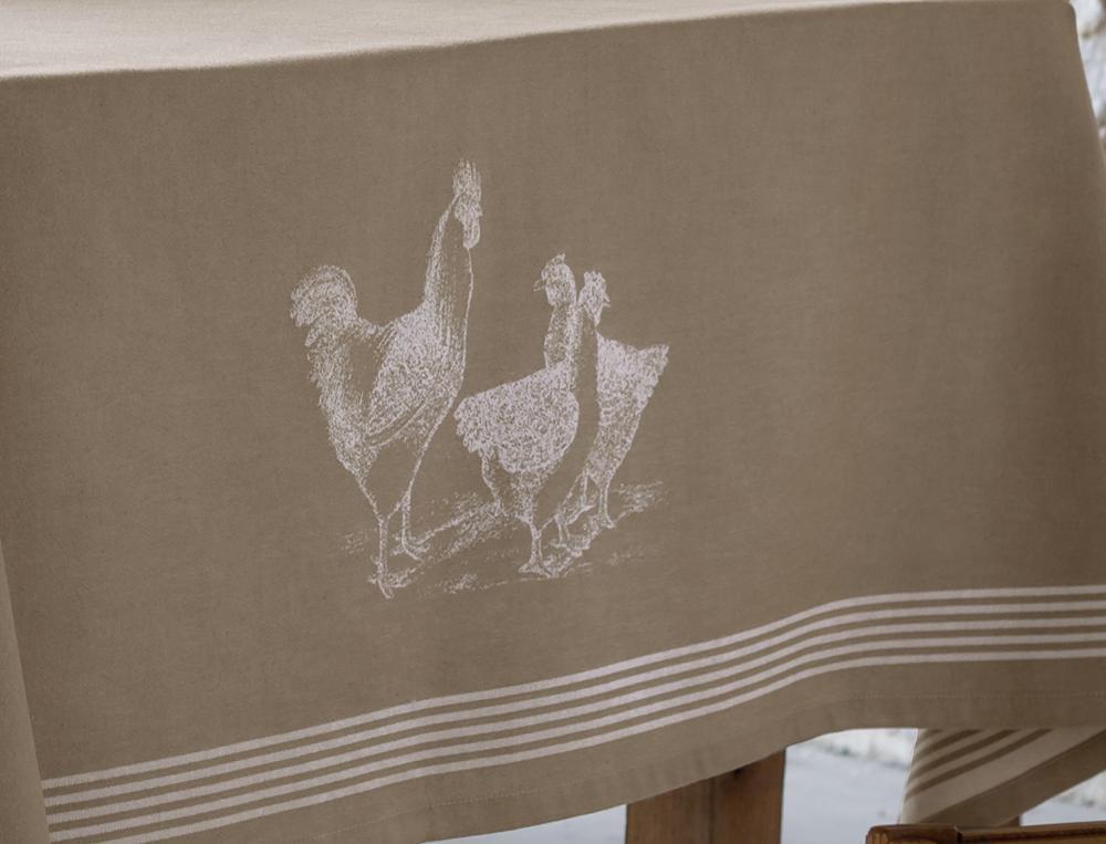 tischw sche h hnerschar linvosges. Black Bedroom Furniture Sets. Home Design Ideas