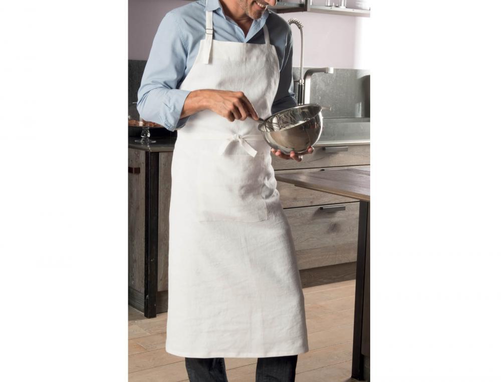 Tablier en lin toque en cuisine linvosges for Tabliers de cuisine